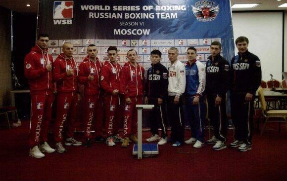 Equipo ruso en la Serie Mundial de Boxeo. Foto: MARCA.