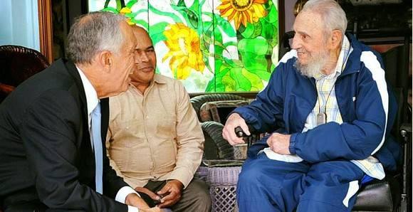 Fidel y el Presidente de Portugal 580