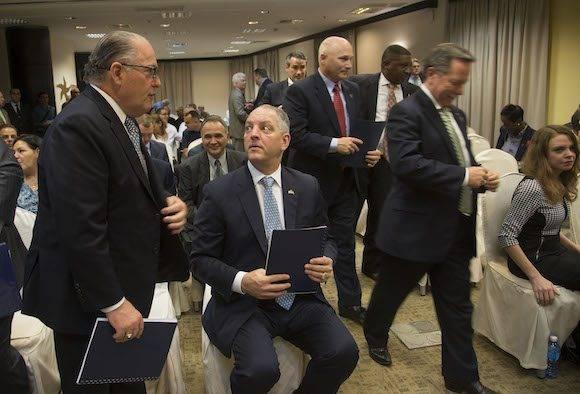 Foro empresarial entre empresarios cubanos y norteamericanos del estado de Louisiana. Gobernador Jhon Bel Edwards. Foto: Ismael Francisco/ Cubadebate