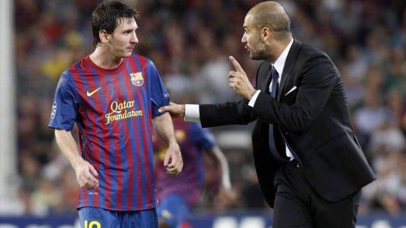 Guardiola y Leo Messi. Foto tomada de Los Andes.