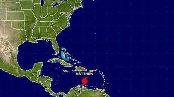 Matthew se fortalece y avanza como huracán categoría 4 por el Caribe