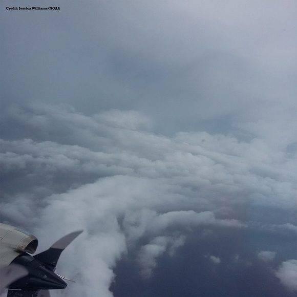 El ojo del huracán Matthew. Foto: Capitán