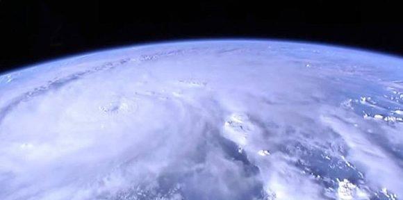 Matthew desde el espacio. Foto: NASA.