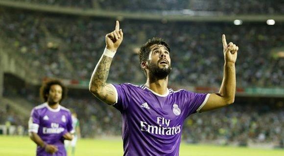 Isco fue el mejor del Real Madrid con un doblete. Foto. Ramón Navarro/ Marca.