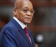 epa04616266 South African President Jacob Zuma arrives for the opening of parliament to deliver his State Of The Nation Address in Cape Town, South Africa, 12 February 2015. Reports state that South African President Jacob Zuma is expected to be met with hostility during his State of the Nation speech, with questions being raised over the corruption scandal surrounding his 20 million euro private estate, a national electricity crisis and oppostion parties threatening to disrupt his speech. EPA/NIC BOTHMA / POOL