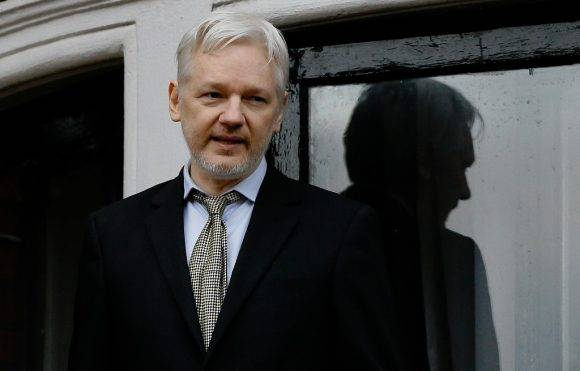 Julian Assange. Foto: AP.