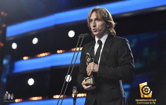 Luka Modric, elegido mejor centrocampista. Foto: LaLiga Santander.