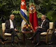Raúl Castro Ruz recibe a Marcelo Rebelo de Sousa, presidente de Portugal. Foto. Ismael Francisco/ Cubadebate.