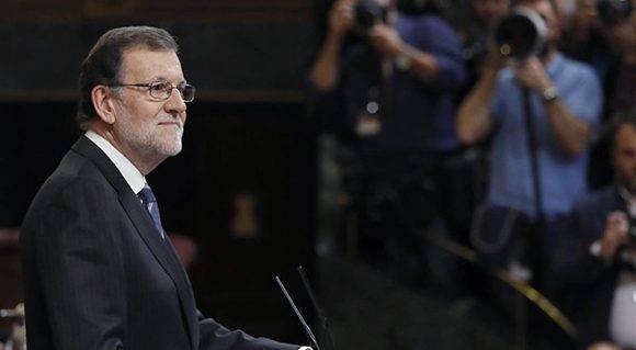 Mariano Rajoy en el Congreso español este miércoles. Foto: EFE/ Ballesteros.