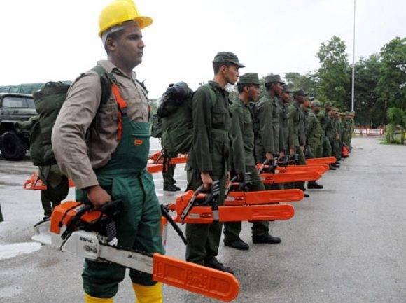 El colectivo de 78 efectivos está integrado por oficiales del Estado Mayor de la Región Militar. Foto: Periódico Venceremos.