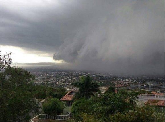 Matthew entrando en Haití