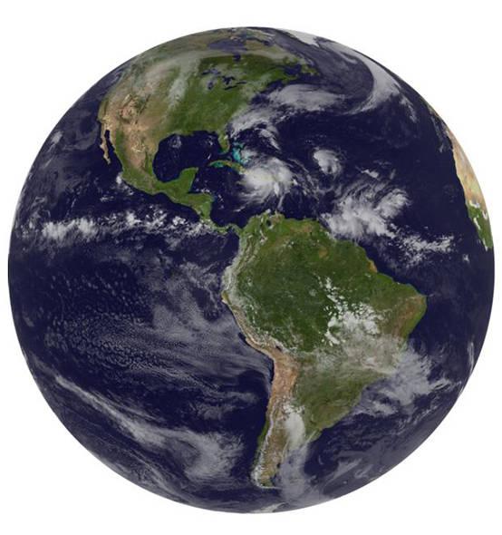 Imagen captada por el el satélite GOES-Oriental, que muestra la gran magnitud de Matthew a escala en el continente americano. Fuente: NOAA.