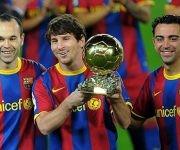 En 2010, Messi ganó el balón de Oro, pero los especialistas votaron por Sneijder. Foto: AFP/ Lluis Gene.