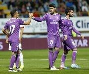 Morata y Lucas celebraron uno de los goles del delantero. Foto: José A. García/ MARCA.