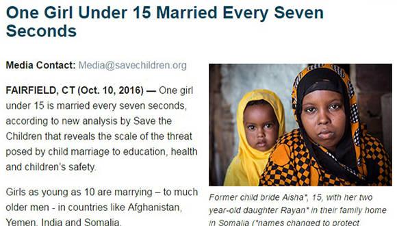 Niñas casadas 15 años