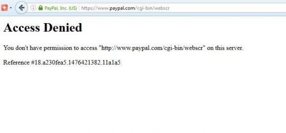 PayPal no desde Cuba