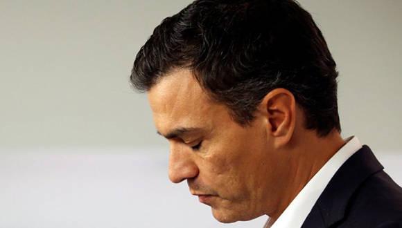 Pedro Sánchez renuncia a la dirección del PSOE. Foto: Reuters.
