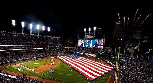 Inauguración de la final del béisbol estadounidense. Foto: Matthew Thomas/ ESPN.
