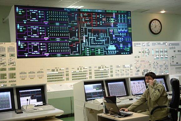 Principal puesto de control de la cuarta unidad de generación eléctrica con el reactor BN-800 de la central nuclear de Beloyarsk, Rusia. Foto: Sputnik.