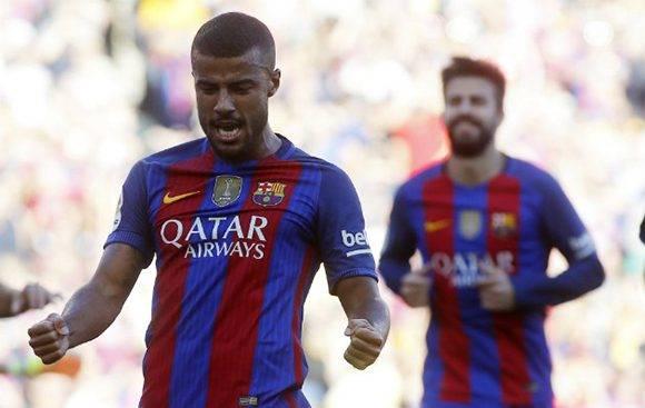 Rafinha fue el mejor del Barça en el primer tiempo al conseguir un doblete. Foto: Francesc Adelantado/ Marca.