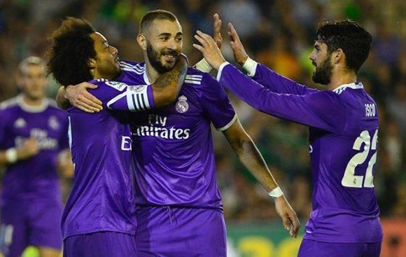 Benzema, Isco y Marcelo anotaron frente al Betis.