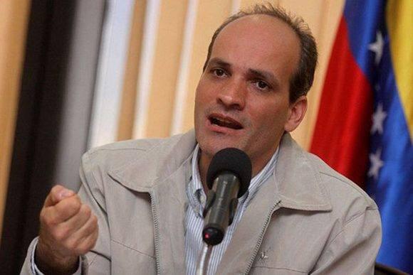 El vicepresidente de Planificación y Conocimiento de Venezuela, Ricardo Menéndez. Foto. Archivo.