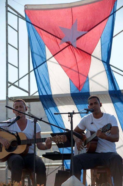 Jóvenes reclusos brindaron su arte junto a Silvio en el Combinado del Este. Foto: Ivan Soca / Cubadebate