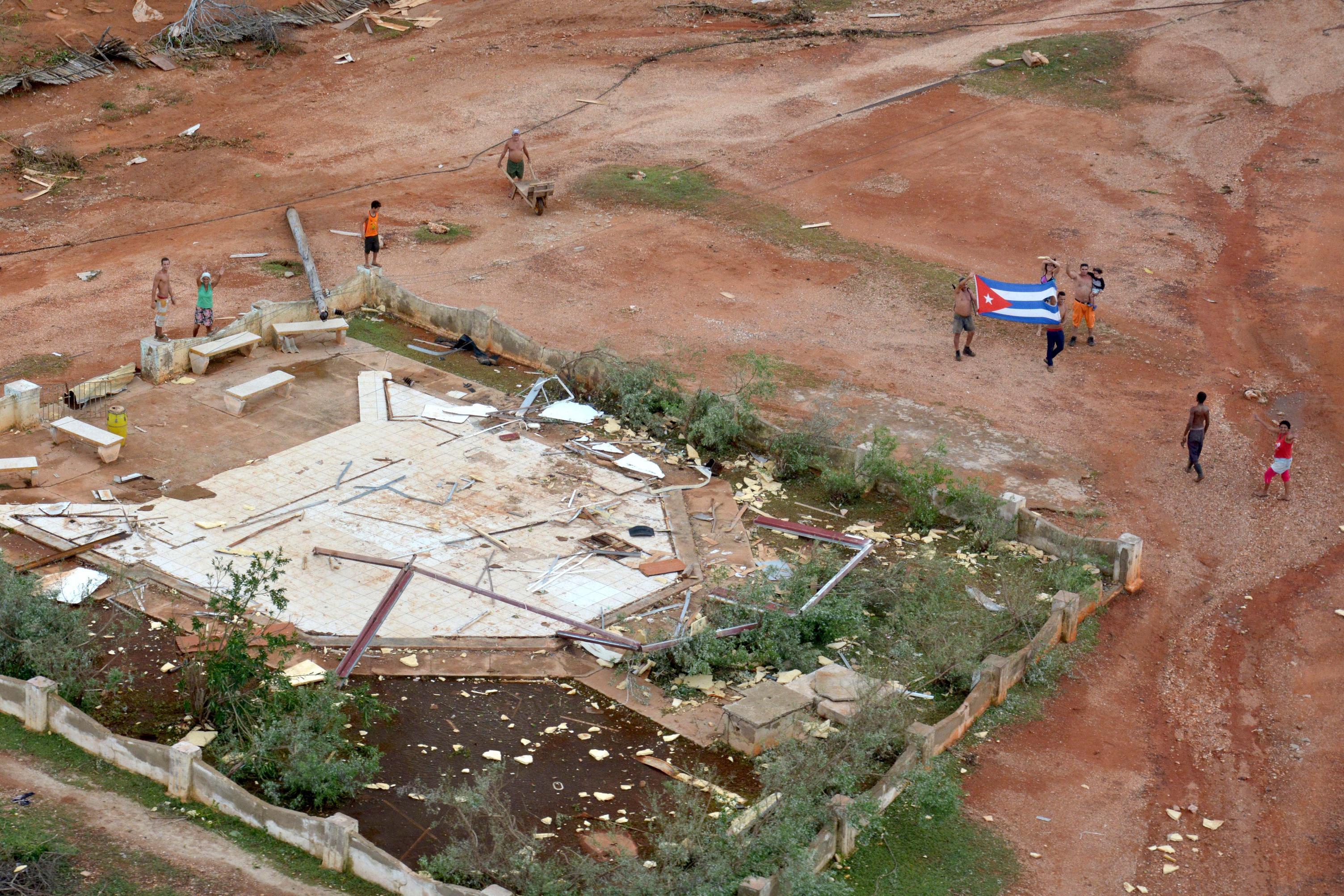 Maisí, luego del paso del Huracán Matthew. Foto: Juan Pablo Carreras/ ACN.