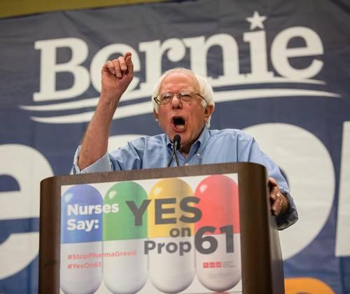 Bernie Sanders no descarta una nueva candidatura por el Partido Demócrata en 2020. Foto AP/ AIDS Healthcare Foundation.
