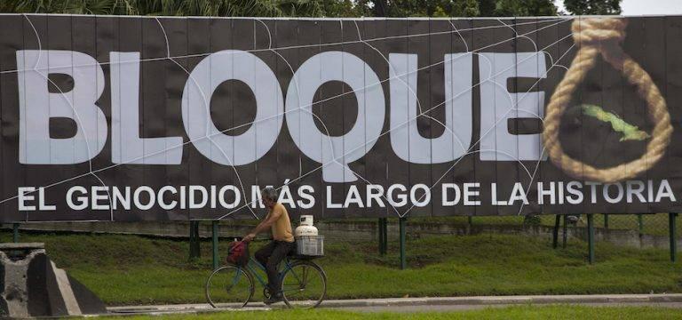 Estados Unidos insiste en el bloqueo a Cuba