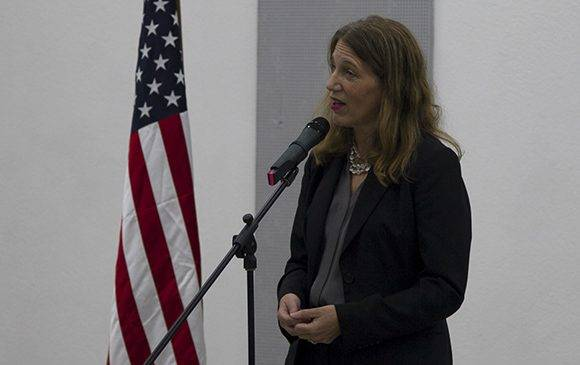 Sylvia Burwell durante sus declaraciones. Foto: Ladyrene Pérez/ Cubadebate.