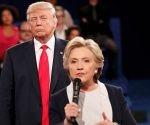 Hillary Clinton y Donald Trump durante el debate electoral. Foto: Rick Wilking/Reuters.