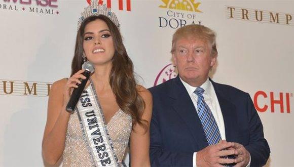 Donald Trump fue hasta el año pasado dueño junto a la cadena NBC del concurso de Miss Universo. Foto: Getty Images.