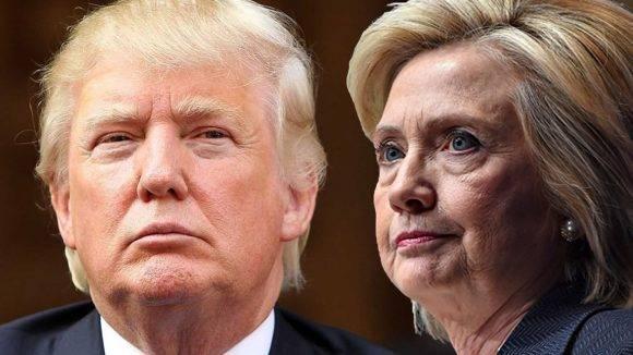 Donald Trump y Hillary Clinton. Foto tomada de diaadia.
