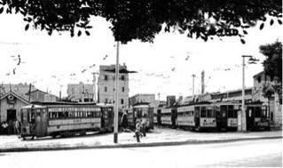 """El """"Paradero de Príncipe"""" de los tranvías de La Habana."""