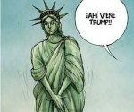 estatua libertad trump