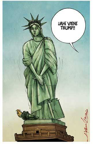 Caricatura publicada hoy por La Jornada.