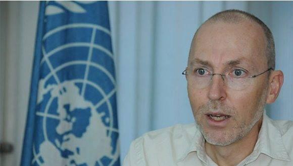 Theodor Friedrich, representante de la Organización de Naciones Unidas para la Alimentación y la Agricultura (FAO) en Cuba. Foto: Archivo.