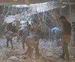La coalición internacional encabezada por Estados Unidos lanzó un ataque aéreo contra un cortejo fúnebre en la ciudad iraquí de Daquq. Foto: Iraqi al-Ghadeer television channel.