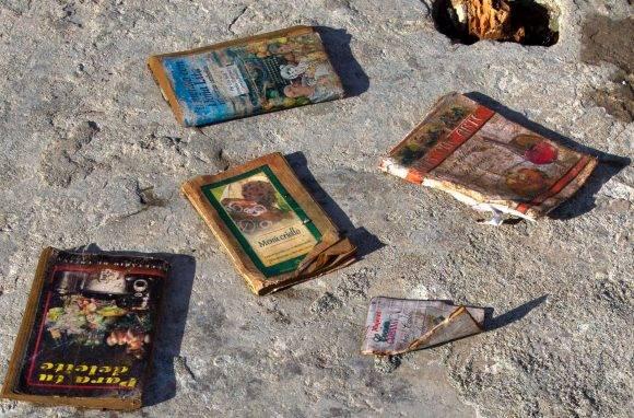Los libros de cocina salvados en el naufragio. Foto: Ramón Espinosa/ AP