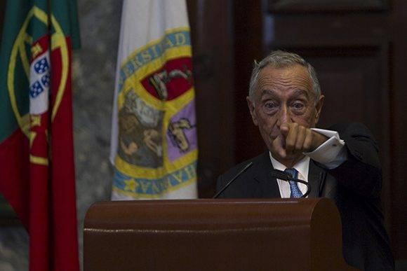 El presidente portugués, Rebelo de Sousa, se mostró a favor de la eliminación del bloqueo y exaltó el papel de Cuba en pos de la paz latinoamericana. Foto: Ladyrene Pérez/ Cubadebate.