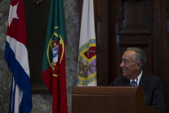 Rebelo de Sousa fue recibido por Raúl, sustuvo un amistoso encuentro con Fidel y participó en el primer foro empresarial Portugal-Cuba. Su visita a Cuba concluye este jueves 27 de octubre. Foto: Ladyrene Pérez/ Cubadebate.