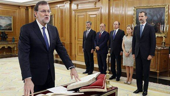 Mariano Rajoy juró el cargo ante el Rey, este lunes. Foto: EFE.