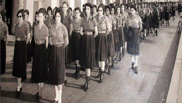 Las integrantes del Batallón eran fundamentalmente adolescentes y jóvenes. Foto: Trabajadores.