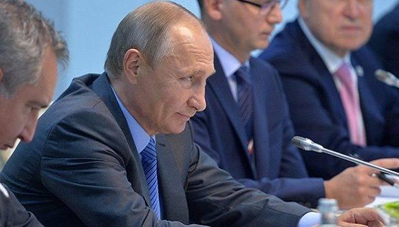 Presidente Vladimir Putin durante VIII cumbre anual del bloque BRICS. Foto: Sputnik.