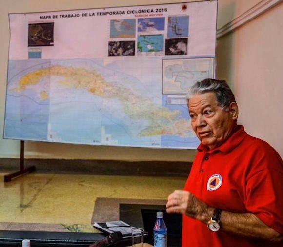 Ramón Pardo Guerra, Jefe del Estado Mayor de la Defensa Civil, durante su intervención en la primera reunión de los órganos de trabajo de la Defensa Civil, en la sede de esa entidad, en La Habana, Cuba, el 1 de octubre de 2016. ACN FOTO/ Abel PADRÓN PADILLA/ rrcc