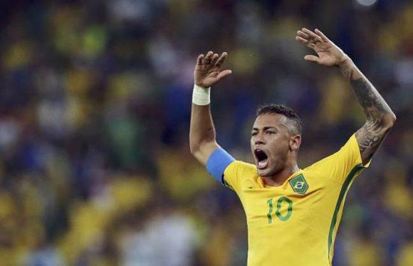 Neymar, con la selección olímpica de Brasil. Foto: Reuters