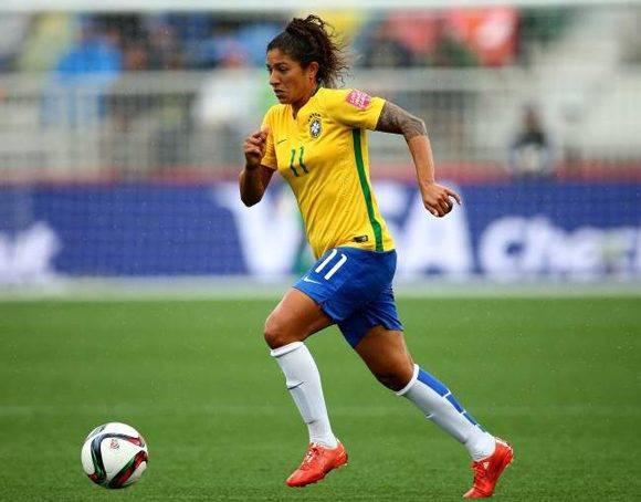 Cristiane, jugadora brasileña, en un partido del Mundial femenino de 2015. AFP
