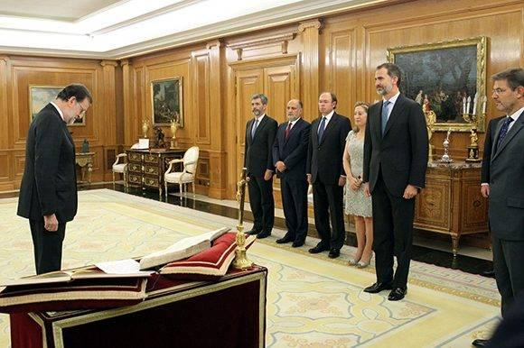 Momentos antes de la jura de Mariano Rajoy Brey como presidente del Gobierno de España. Foto: Casa de S.M. el Rey.