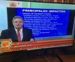 El meteorólogo José Rubiera en declaraciones al Sistema Informativo de la Televisión Cubana este mediodía.